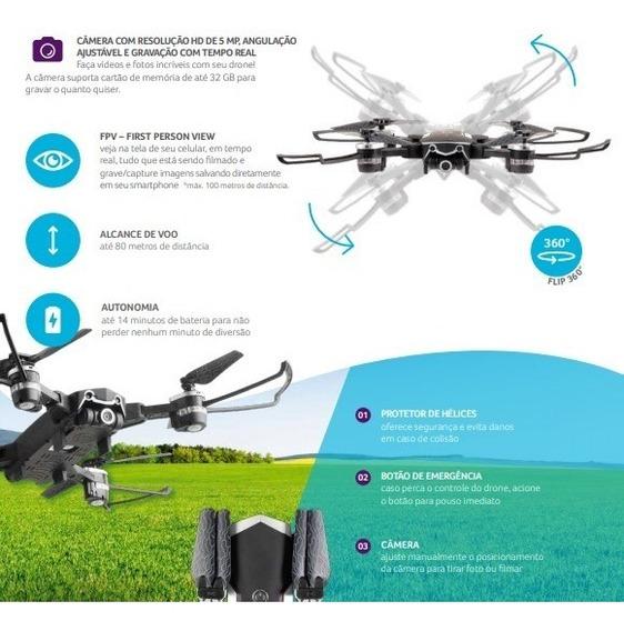 Quadricóptero Controle Remoto Camera Foto Video Smartphone