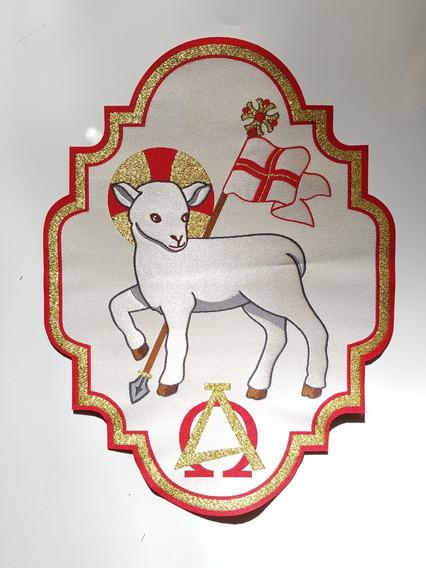 Grega - Galão Cordeiro - Cristo - Bordado Litúrgico