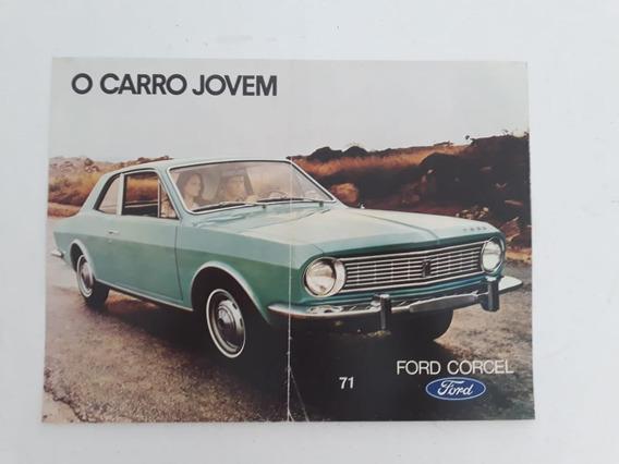 Folder Folheto Propaganda Prospectos Brochura Ford Corcel 71