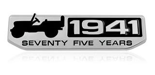 Emblema 3d Jeep 1941 Renegade Compass Willys Cherokee Metal