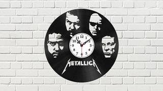 Reloj Metallica Vector Para Corte Archivo Digital