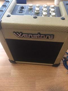 Amplificador Cube 15 E Wenstone + Cables De Regalo