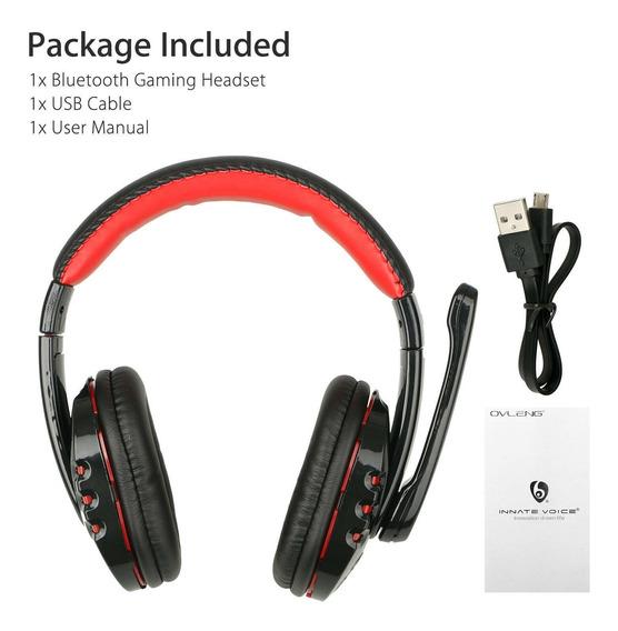 Fone De Ouvido Sem Fio Bluetooth Para Xbox Pc Ps4 Com Contro