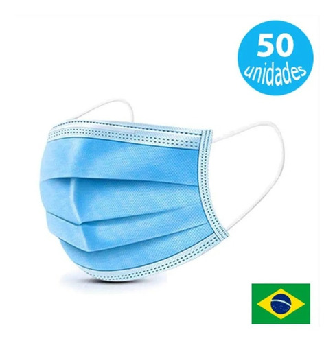 Imagem 1 de 4 de Kit Caixa C/ 50 Mascaras Respiratórias Descartáveis