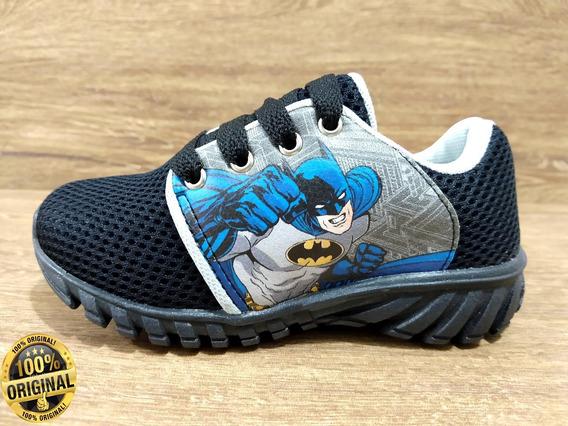 Tênis Infantil Masculino Batman Super Promoção Barato