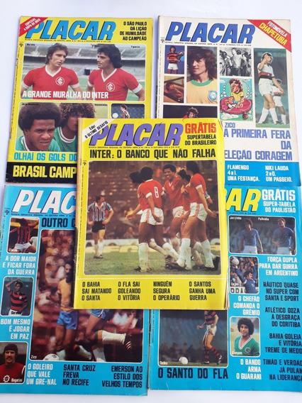 Placar 1976 Abril Com 5 Revista Raras Frete Grátis