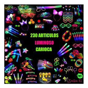 Combo Cotillón Luminoso De 230 Artículos Carnaval Carioca