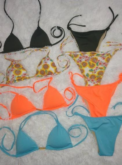 Conjunto Biquini Cortinha Sem Costura Verão Praia