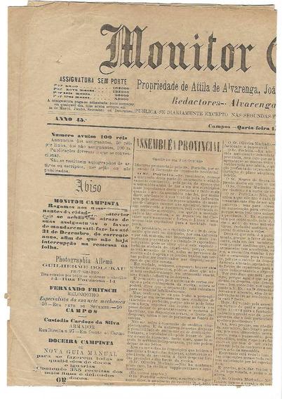 Monitor Campista-jornal-campos-rj C/3 Selosfiscais Imperiais