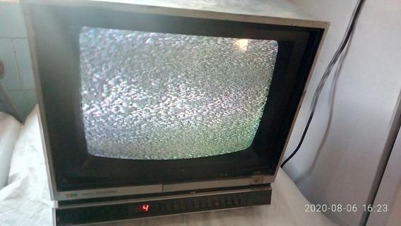 Tv Sharp De 14 Polegadas Bivolt 110/220 Funcionando