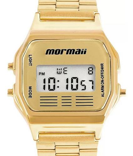 Relógio Mormaii Feminino Vintage Mojh02ab/4d Digital Dourado