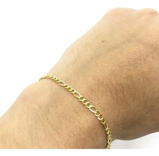 Pulseira Masculina/ Feminina 19cm Fina 2mm Banhada A Ouro 18k - Belo Elegante