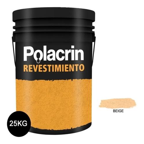 Revestimiento Acrilico X25 Kg Beige Impermeable Polacrin