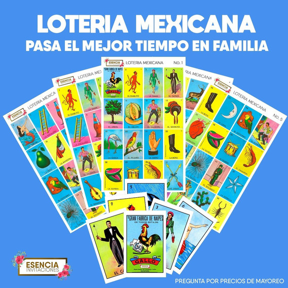 Loteria Tradicional Mexicana. 10 Paquetes Para Mayoreo,