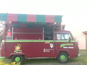 Kombi 2001 Food Truck - Motor Ar E Gasolina