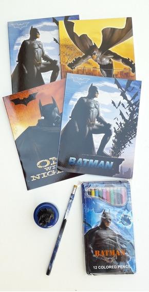 Set De Utiles Escolares Dc Comics Batman