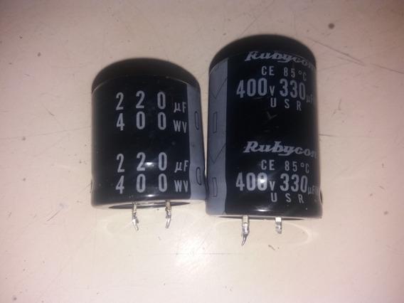 Capacitores Electroliticos De 220uf Y330uf X 400v El Par A