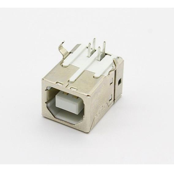 Kit 2x Conector Usb Tipo B Fêmea Impressora Plotter Frete Grátis Carta Registrada