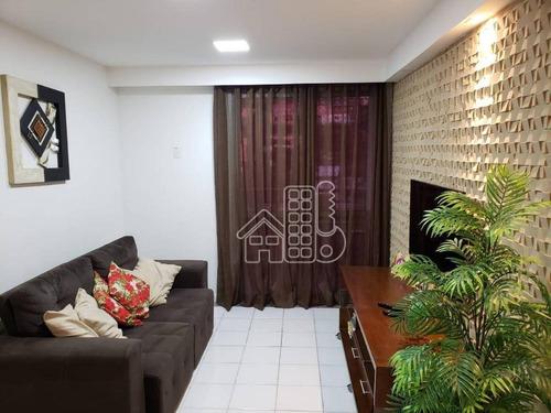 Apartamento À Venda, 93 M² Por R$ 600.000,00 - Santa Rosa - Niterói/rj - Ap2846