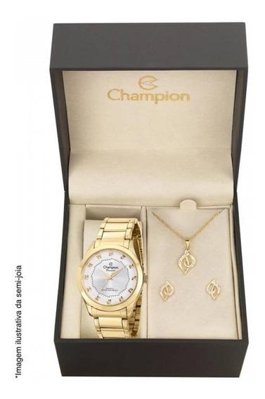 Relógio Champion Dourado Feminino Passion Analógico Ch24759w