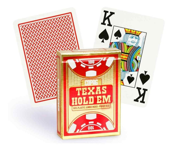 Baralho Plastico Copag Texas Hold´em Poker Naipe Grande