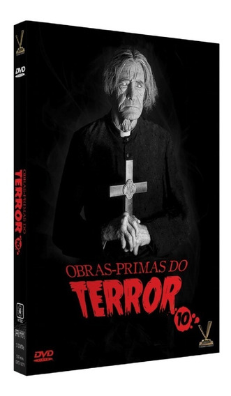 Box Obras Primas Do Terror Vol 10 - 6 Filmes Lacrado Novo