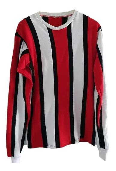 Camiseta River Tricolor Alonso Francescoli M Larga Retro
