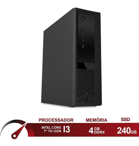 Computador Intel I3 7100 4gb  Ssd 240gb Skill Speedup