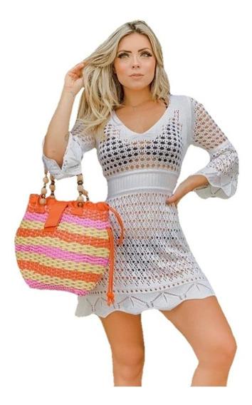 Saída De Praia Trico Crochê Compre 2 Leve 3 Varias Opções