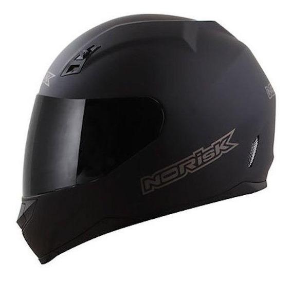 Capacete para moto integral Norisk FF391 Monocolor matt black tamanho 62