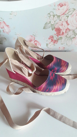 Zapatos De Mujer Via Uno Taco Chino Color Talle 39