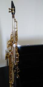 Sax Soprano Júpiter Prata Com Chave Dourada