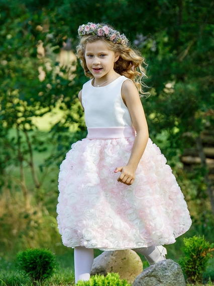 Hermoso Vestido De Fiesta, Cortejo, Nena 8-10 Años