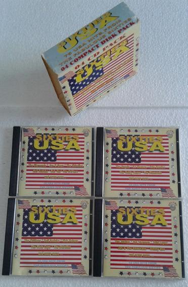 Sixties Usa - Box 04 Cds-75 Clássicos Americanos Dos Anos 60