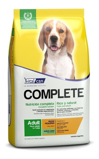 Alimento Vitalcan Complete perro adulto raza pequeña carne 1.5kg