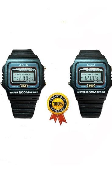 Kit 2 Relógios Masculino Aq 37 Digital Prova D