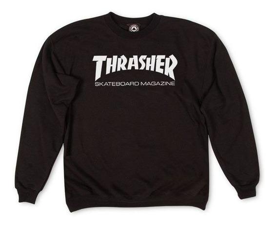 Moletom Thrasher Magazine Skate Mag Crewneck Black