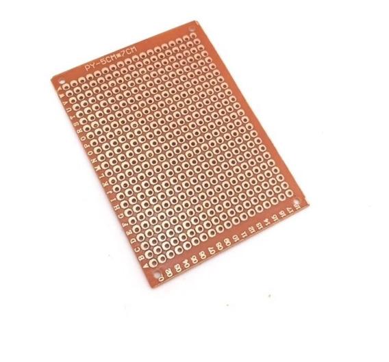 30x Placa De Fenolite Ilhada 5x7 Cm Pcb Perfurada Protótipo