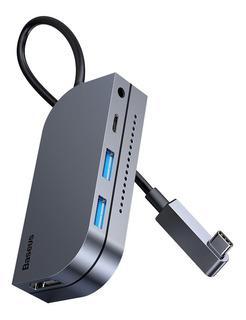 Hub iPad Pro Baseus Usb C Pd Hdmi Tf Usb 3.0 Audio 3.5mm