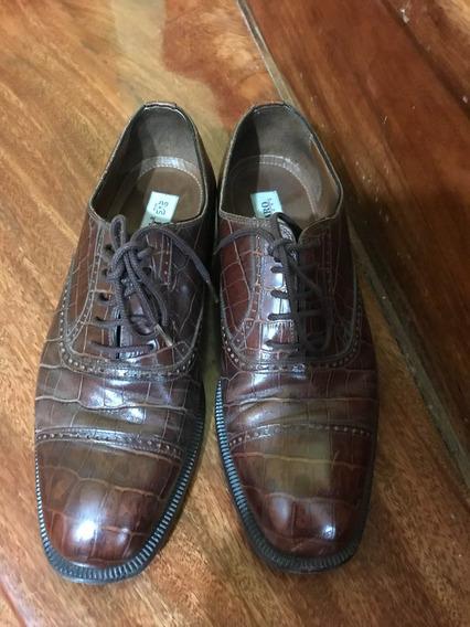Zapatos Ferraro Calzare Piel Animal Talle: 39/40 Cocodrilo
