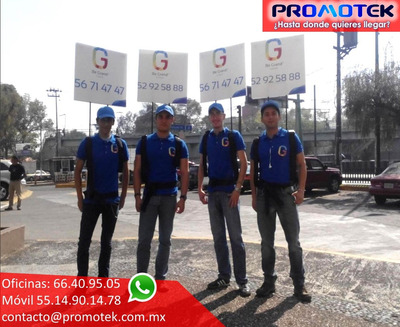 Publiandantes Mochilas Publicitarias Walking Board Publiman