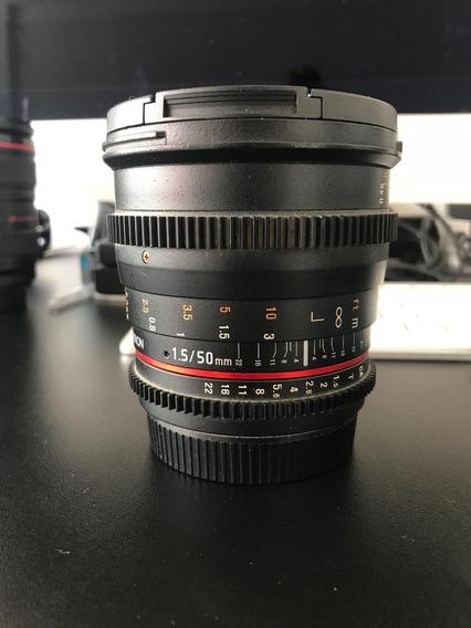 Lente 50mm Rokinon P/ Canon