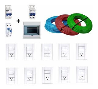 Kit Instalacion Domiciliaria Sica Jeluz Cable 1,5 Cobre