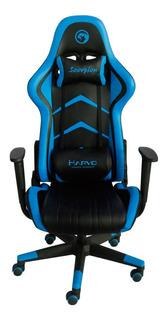 Silla Gamer Marvo Scorpion Ch106 Negro Y Azul Gaming Mexx 3