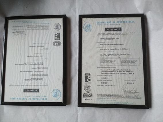 Quadro - Duas Molduras Para Diplomas / Fotos