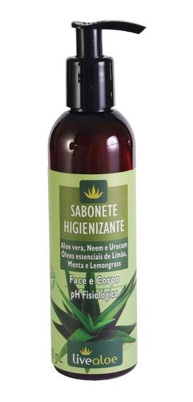 Sabonete Higienizante Face Corpo Íntimo Livealoe - 240ml