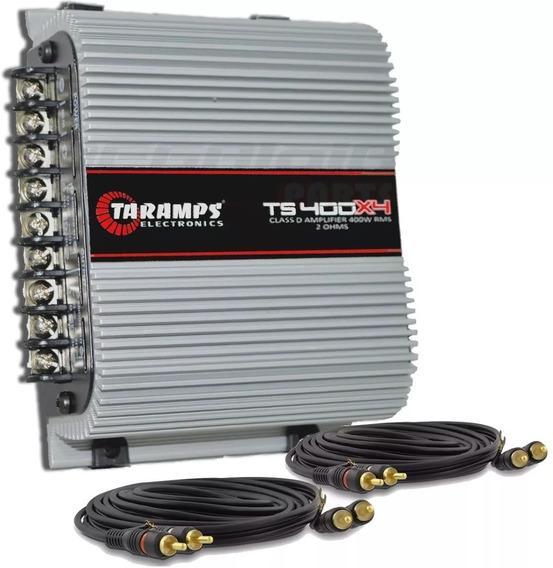 Modulo Taramps Ts 400x4 T400 Wrms Digital 4 Canais + 2 Rca