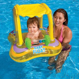 Flotador Para Bebes Inflable Con Techo Piscina O Playa