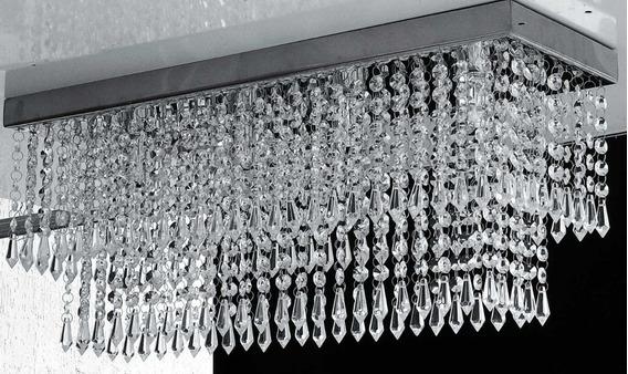 Lustre Em Cristal , Retangular 60 X 20