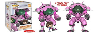 Funko Pop D.va Con Robot Mecha Overwatch Dva Meka Figura